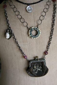 Coin purse necklace