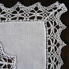 Vintage fabric doily Retro lace factory napkin by MyWealth on Etsy