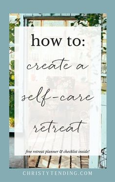 Sometimes, you just need to get away to heal, rest, and rejuvenate. Learn how to create your own self-care retreat. I'm revealing the exact process I use to create my own retreats. Plus get your free retreat planner and checklist inside! >> http://www.christytending.com