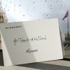 Burberry Tweets Personalized Animated GIF Cards to Celebrate 1 Million Followers