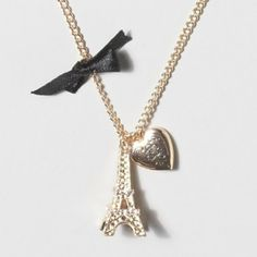 Ooh La La Paris Charm Necklace- What do you think? Heart Locket, Locket Necklace, Arrow Necklace, Pendant Necklace, Girls Necklaces, Jewelry Necklaces, Jewlery, Trendy Accessories, Jewelry Accessories