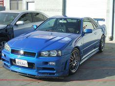 the Godzilla! Nissan Skyline GTR (R34)