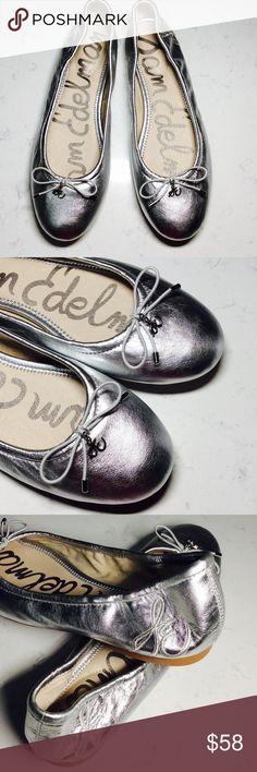 💕Sam Edelman Metallic Felicia Silver Ballet Flat NWOB 💕Sam Edelman Women's Metallic Felicia Silver Ballet Flat in perfect condition  013456785 Sam Edelman Shoes Flats & Loafers