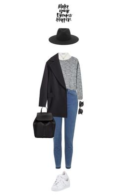 """""""145/"""" by cutefatboy ❤ liked on Polyvore featuring Yves Saint Laurent, Topshop, Bodkin, H&M, adidas, rag & bone and Mansur Gavriel"""