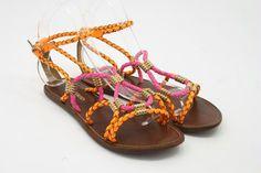 Ilse Jacobsen neon braids sandaal