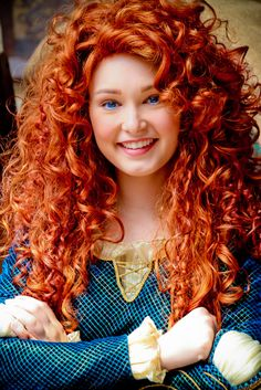 Princess Merida from Disney Pixar's Brave in the Magic Kingdom at Walt Disney World. Photography by abelle2 on flickr