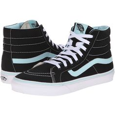Vans SK8-Hi Slim Skate Shoes ($55) ❤ liked on Polyvore featuring shoes, sneakers, shoes/boots, leather hi top sneakers, skate shoes, hi tops, leather sneakers and leather hi tops