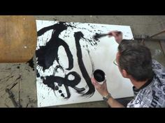 Chinese ink abstract painting - YouTube