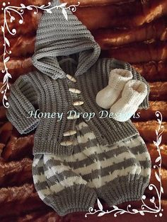 Baby Knitting Patterns Pants Ravelry: Allsorts pattern by Honey Drop Designs- perfect baby boy outfit Baby Boy Knitting, Knitting For Kids, Baby Knitting Patterns, Baby Patterns, Crochet Patterns, Pull Bebe, Knitted Baby Clothes, Crochet For Boys, Baby Pants