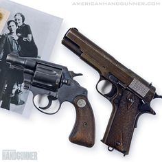 Bonnie & Clyde's crime spree ended today in 1934. Bonnie had this Colt .38 strapped to her thigh and Clyde had this 1911 tucked in his waistband when the met their demise.