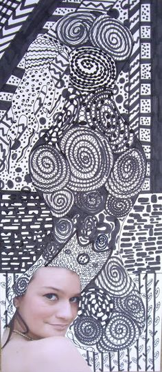 zentangle faces louann mattes