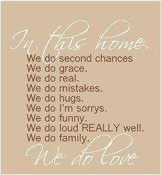 In this home we do second chances  22x 24 by ALastingExpression, $26.95