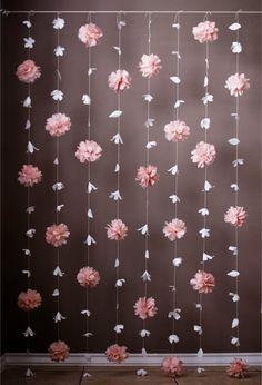 Flor de papel y papel de seda Puff Garland