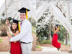 Cute couple graduation / senior photo poses | Claire Diana Photography |