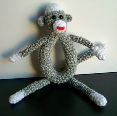 Sock Monkey Rattle $4.00 pattern
