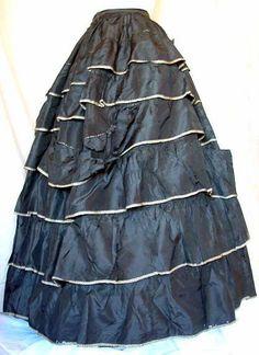 1857-1860 Taffeta Skirt