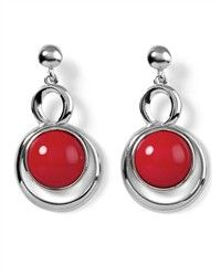 matching red earrings