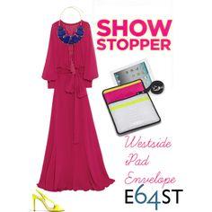 White faux alligator + hot pink padded lining =  Westside iPad Envelope by E64ST.