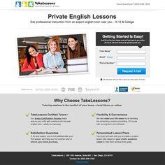 Take Lessons landing page