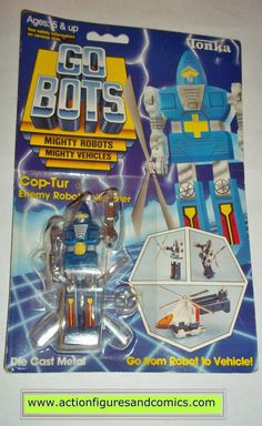gobots COP-TUR mr-04 helicopter copter 1985 tonka ban dai toys action figures moc mip mib vintage transformers