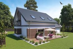 Beautiful house plan with attic and double garage 128.42 square meters