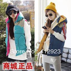 Denim women's down cotton  female autumn and winter fashion  outerwear vest female spring and autumn Vests $18.14