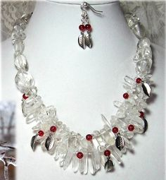 Icy Berries Necklace by Linda Tenney  - featured on Jewelry Making Journal