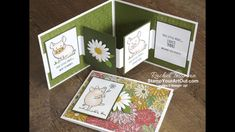 In this video I share how easy it is to make the impressive W-Fold card with the This Little Piggy Stamp Set, Ornate Garden Designer Paper, Stampin' Blends M. Fun Fold Cards, 3d Cards, Folded Cards, Stampin Up Cards, Card Making Tutorials, Making Ideas, Video Tutorials, Online Paper, This Little Piggy