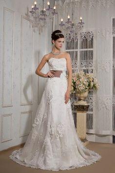 Abito da sposa senza spalline in pizzo collo Europa e in America perline di nozze fatti a mano floreale