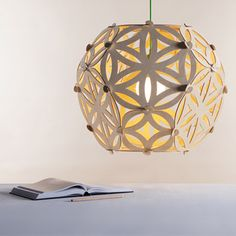 Trendsetting Luminary Designs by Jaanus Orgusaar Laser Cut Lamps, Laser Cut Wood, Laser Cutting, Pendant Lamp, Pendant Lighting, Diy Luminaire, Yoga Studio Design, Star Lamp, Fountain Design