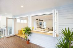 Kitchen servery to Outside Deck - Avalon Northern Beaches - Style Construction. - Kitchen servery to Outside Deck – Avalon Northern Beaches – Style Construction…, BuildingCon - Style At Home, Outdoor Rooms, Outdoor Living, Indoor Outdoor Kitchen, Outdoor Gardens, Casas California, Avalon Beach, Building A Deck, Design Case
