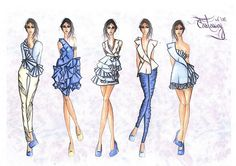 Design ideas for the new Karrah designs collection                                                                 #fashion #design #illustration