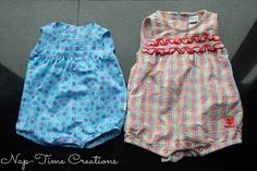 Free romper pattern and tutorial from NapTime Creations