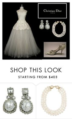 """Vintage Dior"" by oliviaf14 on Polyvore featuring Christian Dior, Chanel and vintage"