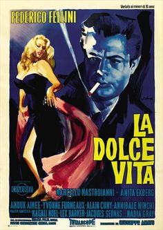 Arguably Fellini's best film. From the larger than life opening scene to the ambiguous ending, La Dolce Vita lives up to its title by showing the, well, sweet life of a journalist and the events that happen along the way. Oh, and did you know that the term Paparazzi originated from this film?