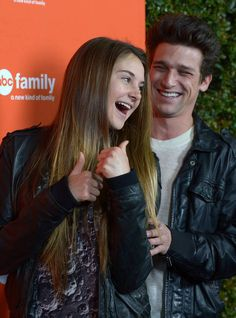 Shailene Woodley and Daren Kagasoff at the ABC Family West Coast Upfronts on May 1, 2012