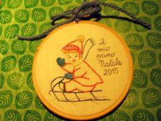 LA DIESSE DEL '67: VINTAGE HOOP ART #hoop_art #vintage #embroidery #broderie #natale #punto_erba #punto_pieno #50s