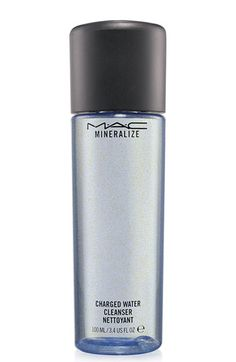 MAC's new Mineralize Charged Water Cleanser is super gentle, removes makeup without rinsing and makes your skin happy.