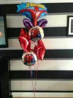 #spider man #theme #balloons #bellissimoballoons