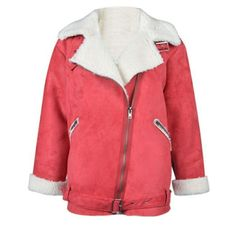 Choies Red Sherpa Fully Lined Jacket. So Comfy! M