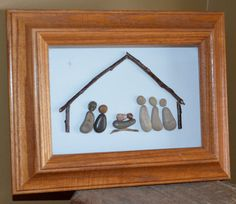 Nativity Scene, Pebble nativity Scene, one of a kind, pebble art, rock art, rock…