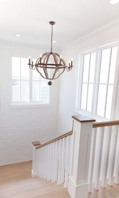 White Walls and White Washed Floors. #WhiteFloors #WhiteWashFloors #WhiteWalls Graystone Custom Builders.