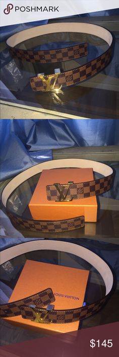 Authentic Louis Vuitton Mens Belt Size 34-36 Hello this is an authentic louis vuitton belt size 32-34 brand new. Im selling for the best deals on this platform, i have the fastest shipping and have sold many products on here because i always provide the best deals. If interested please leave your number in the comments and i will get back to you immediately! I always provide the best customer service and i am welcome to negotiating any reasonable prices necessary. Serious professional people…