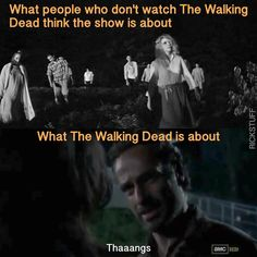 The Walking Dead funny meme. I'm still laughing! Why am I still laughing at this? Walking Dead Funny Meme, Walking Dead Quotes, Walking Dead Tv Show, Fear The Walking Dead, Twd Memes, Funny Memes, Hilarious, Funny Gifs, Stupid Funny