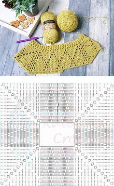 Fashion Designer Dress Drawing Images yet Crochet Skirt Pattern For Babies unlike Tie Dye Dress Fashion Nova with Crochet Dress Pattern Plus Size Crochet Diagram, Crochet Motif, Crochet Lace, Crochet Stitches, Crochet Baby Jacket, Crochet Cardigan Pattern, Crochet Blouse, Knitting Patterns, Crochet Patterns