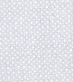 Stars N Stripes Fabric Stars White On White at Joann.com