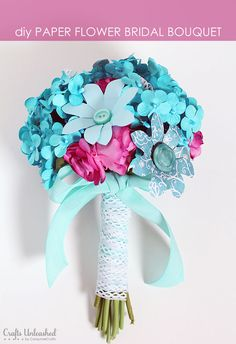 Want to add a handmade touch to your bridal accessories? Learn how to make a paper flower bouquet with this easy to follow tutorial!