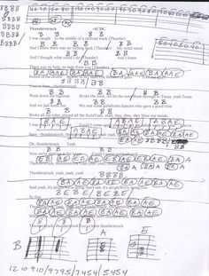 Everyday Buddy Holly Guitar Chord Chart In C  Capo Rd