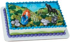 Brave Princess Merida Birthday Cake
