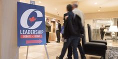 Tory Leadership Candidates Face Off In First Debate  People make their way to the Conservative leadership debate in Saskatoon on Wednesday. (Photo: Liam Richards/The Canadian Press). http://www.huffingtonpost.ca/2016/11/09/tory-leadership-race-debate_n_12890076.html